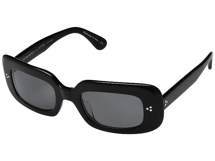 Oliver Peoples Saurine (Black/Grey Lens) Fashion Sunglasses
