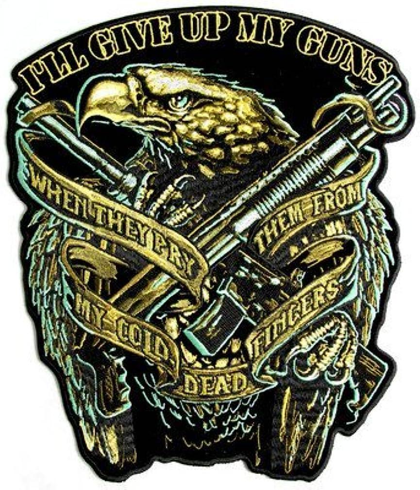 Eagle Guns Patch NRA 2nd Amendment Embroidered Biker LARGE BACK Patch LRG-0354