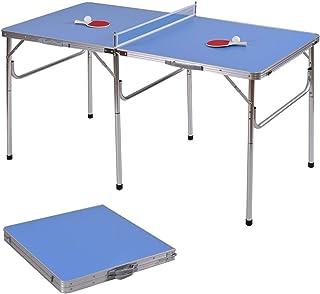 ed2e1fbf085d8 COSTWAY Mini Table de Ping-Pong Pliable Portable Tennis de Table avec 2  Raquettes et