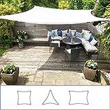 Toldo Vela Clara Shade Sail blanco impermeable sol vela de sombra para jardin impermeable UV Canopy...