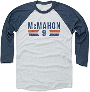 500 LEVEL Jim McMahon Shirt - Vintage Chicago Football Raglan Tee - Jim McMahon Font