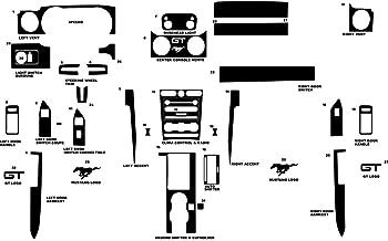 Rvinyl Rdash Dash Kit Decal Trim for Ford Mustang 2005-2009 / Shelby GT500 2007-2009 - Carbon Fiber 4D (Black)