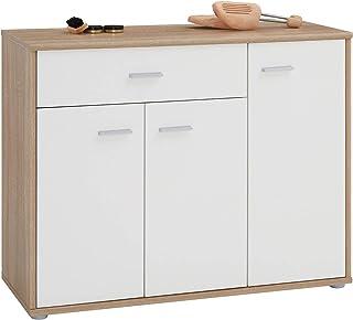 IDIMEX Meuble à Chaussures Camille, Commode Meuble de Rangement avec 1 tiroir et 3 Portes avec 7 tablettes intérieures, en...