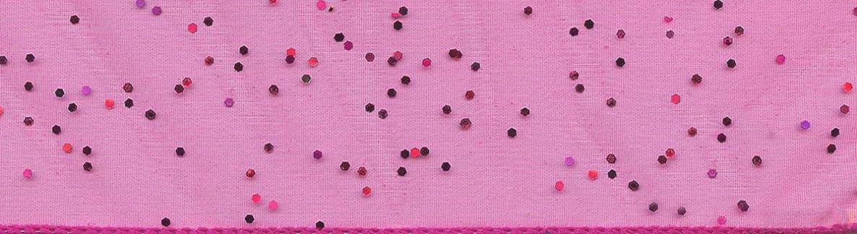 Morex Ribbon 915 Glitter Chiffon Ribbon, 2-1/2 inch by 10 Yards, Cerise