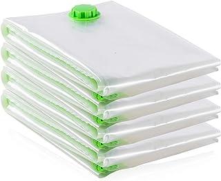 Opaza Sacs de Rangement Extra-Larges sous Vide 4-Pack Géants [130x100cm] pour Vêtements, Couettes/Literie (4 pièces (XL))