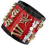 ISFEY - Kit de adsorción con 6 imanes Redondos para una Fuerte absorción, Apto para la decoración del hogar, Color Rojo