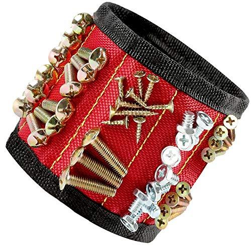 Magnetische Armbänder mit 10 leistungsstarken Magneten für Holding Werkzeuge, Schrauben, Nägel, Dübel, Bohrernn und kleinen Werkzeugen - Bestes Geschenk für DIY Heimwerker, Männer
