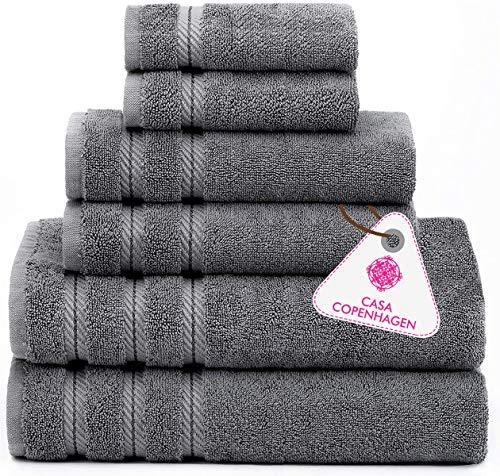 Denmark Soft Linen Premium, 6 Piece Kitchen and Bathroom Egyptian Cotton Towel Set , [Worth $72.95] -