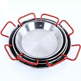 LULUDP Batería de Cocina Sartenes y ollas Bandeja para Paella con 2 Asas de Acero Inoxidable
