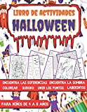 Libro de Actividades para Niños de 4 a 8 años: Libro Juegos Halloween infantil | Colorear, Sudokus, Laberintos, Unir los puntos, Encuentra la sombra, Encuentra las diferencias.
