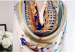 YANGBM Women's Scarf Silk Square Scarf Wild Silk Scarf Shawl Hangzhou Silk Scarf (Color : E)