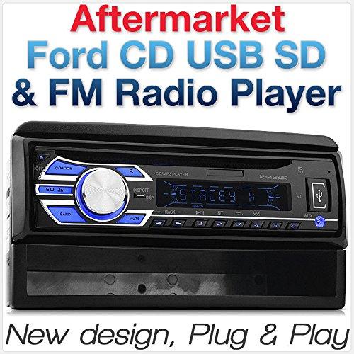 tunez Reproductor de coche Radio MP3 / USB / SD / AUX / FM Radio Fascia Estéreo Individual 1 DIN Uso justo para Ford Focus Transit Connect Cougar Explorer Fiesta Mondeo Puma