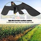 Repelente de pájaros extensible GOTOP Scarer Protect Farmers Crops Flying Bird Kite Scarer Hawk Kite, with 4m Telescopic Pole