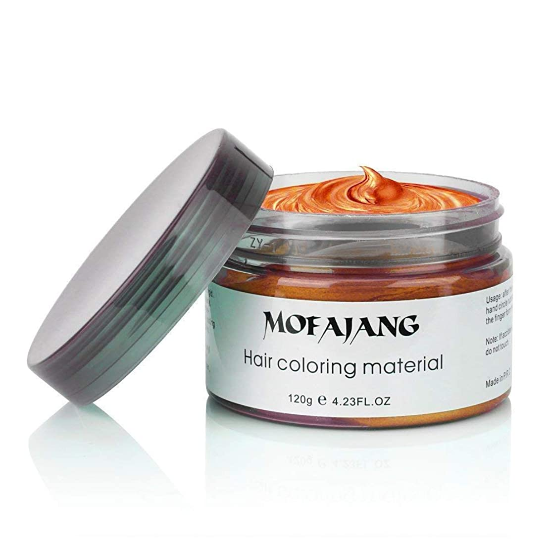 MOFAJANG Unisex Hair Wax Dye Styling Cream Mud, Upgrated Natural Hairstyle Color Pomade, Washable Temporary,Party Cosplay Daily Use (Orange)