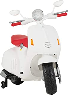 Uenjoy Kids Ride On Motorcycle 12V Electric Battery Powered Motorbike for Kids, Detachable Training Wheels, Music, Headlight, White