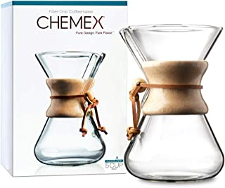 CHEMEX Pour-Over Glass Coffeemaker - Hand Blown Series - 5-Cup