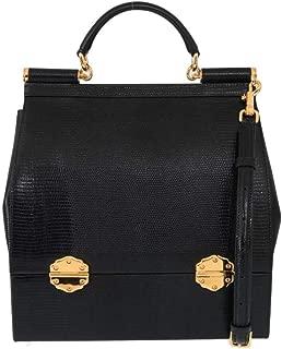 Black SICILY Leather Shoulder Bag