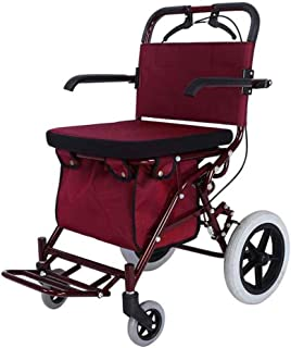 Mobility Aids & Supplies Walker Oversized Tire Stable Folding Car Walker Universal Wheel Four Wheel Can Sit Simple Multi-f...
