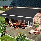 HENGMEI Aluminium Markise Klemmmarkise Balkonmarkise Sonnenschutz Kassettenmarkise Gelenkarmmarkise Sonnensegel