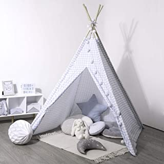 Atmosphera Créateur d'intérieur indiskt tält, barntält, vit/blå, barntält för rummet, barntält, tipi