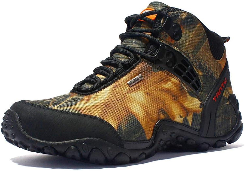 Outdoor Wanderschuhe Herren High Top Camouflage wasserdichte rutschfeste Schuhe Zum Laufen Klettern Gelb-EU41