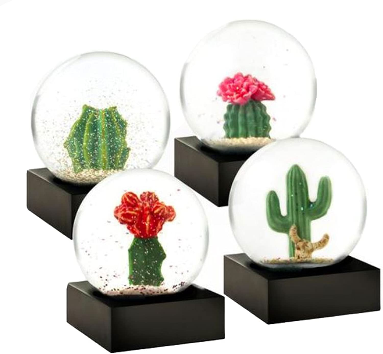 Cactus Set of 4 Miniature Cool Snow Globes by CoolSnowGlobes?