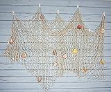 Material: Baumwolle Größe: ca. 199,6x 149,9cm (200x 150cm) Farbe: Cremeweiß Das Fangnetz ist ca. 1,5x 2Meter nach verbreitet die net.Das Fangnetz ist verziert mit einigen schönen Farbe Muscheln und es ist große Dekoration für Haus, Bar, Café, R...
