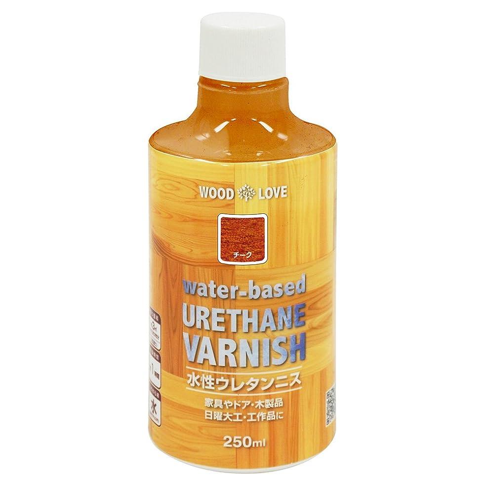 処方透過性デコラティブニッペ WOOD LOVE 水性ウレタンニス チーク 250ML