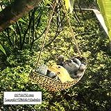 Ganjuan Mignon Grenouilles Chat Chien Résine Mensonge Père Noël Statue Jardin Hang on Arbre décoratif Suspendu Intérieur extérieur Décor Ornement (Color : Cat B)