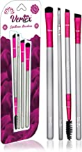 Vertex Beauty - Eyebrow Brush Set - Expert Eyebrow Brushes - 4 Piece Set - Effortlessly Blend & Fill Eyebrows, Create Perfectly Symmetrical Brows, Made From Premium Synthetic Hair