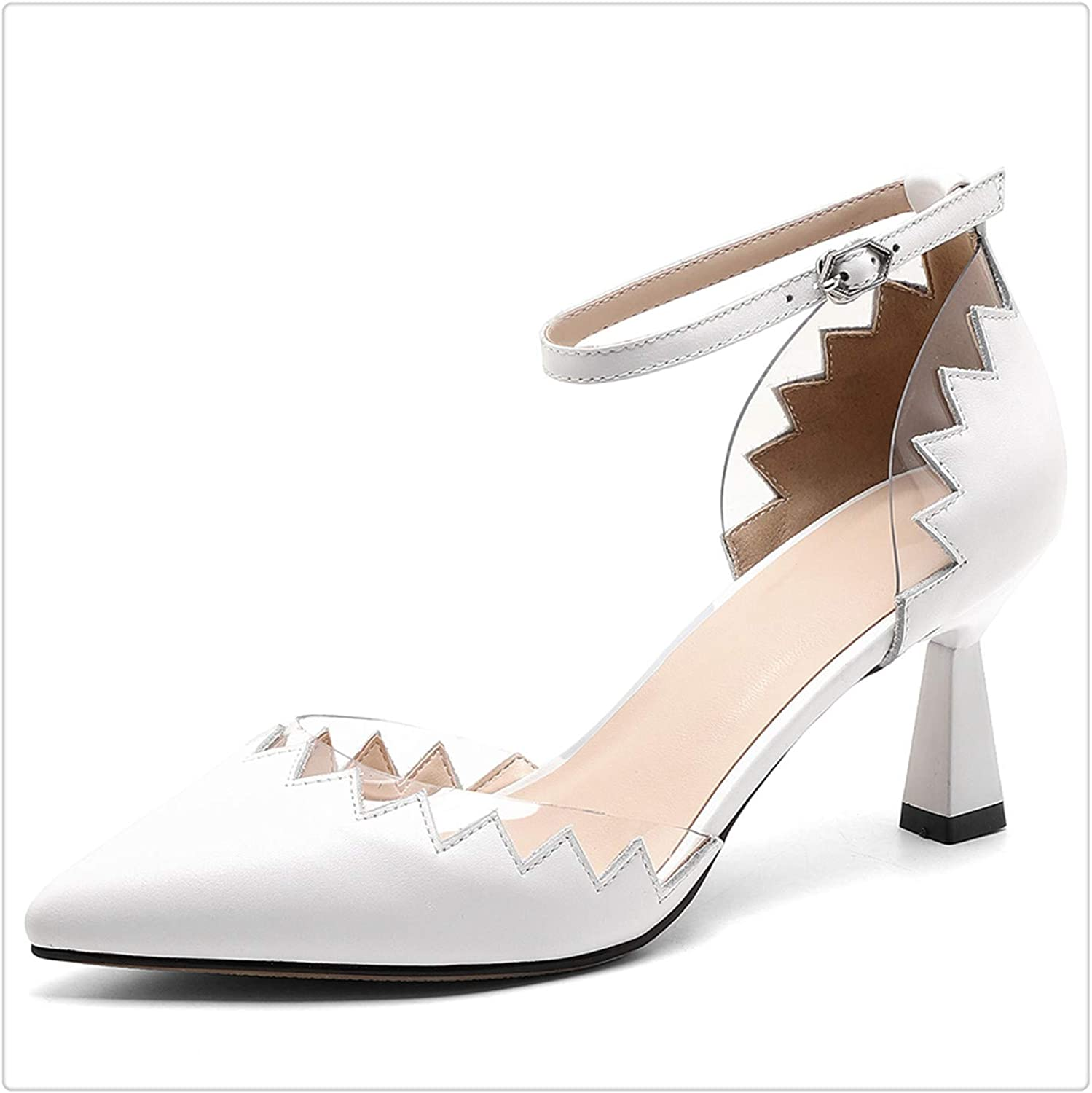 Yyixianma Genuine Leather shoes Women Buckle Pointed Toe Elegant Sandals Woman shoes