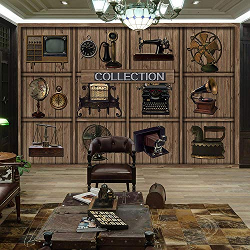 3D vliesbehang fotobehang abstracte 3D vintage koffie winkel wandschilderij behang foto wandschilderij behang voor woonkamer slaapkamer wanddecoratie wandschilderij behang papier 430*300 430 x 300.