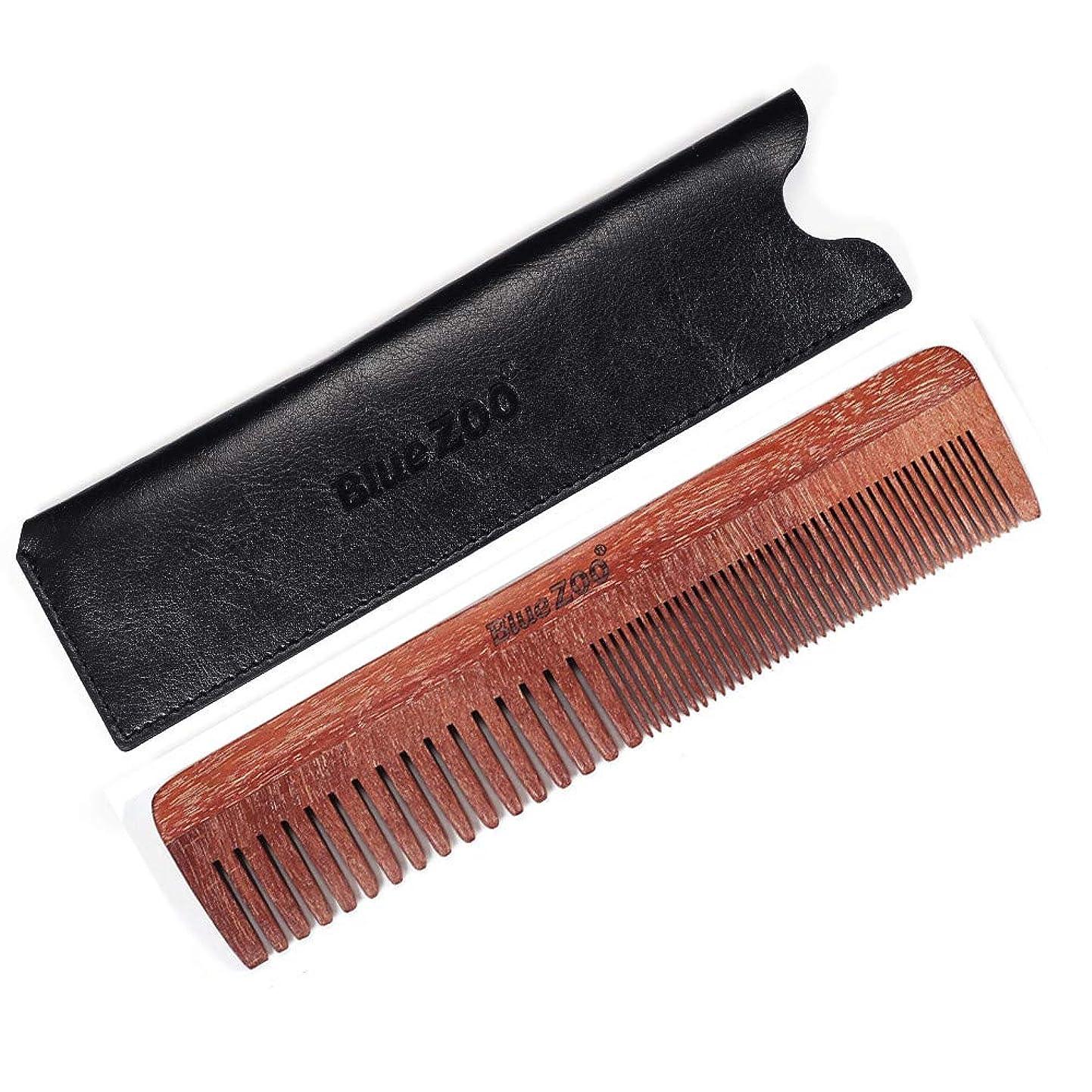 解き明かす衣類マニフェストLazayyii くし 良い歯ブラシが付いている自然な木 帯電防止ひげ (ブラック)