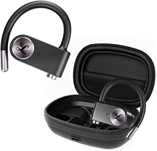 LINPA World Wireless Earbuds Sports Bluetooth 5.0 Headphones True Wireless Stereo Deep Bass Built in Mic IPX7 Waterproof Earphones in Ear with Charging Case 54 Hours Playtime for Workout Running