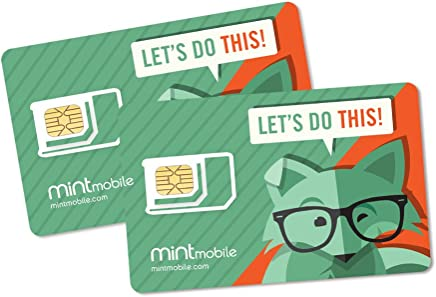 Mint Mobile Starter Kit   Verify Compatibility with Our Talk, Text & Data Plans (3-in-1 GSM SIM Card)