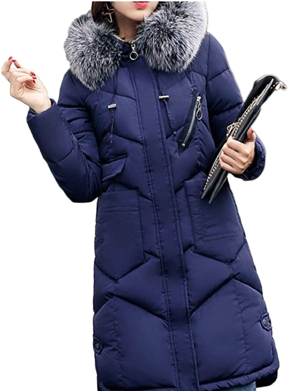 Gocgt Women's Winter Hooded Puffer Jackets Thickened Long Down Coat