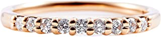 カナディアンダイヤモンド リング 計0.20ctUP [K18RG] ハーフエタニティ 専用ケース付 10号