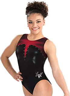 GK Girls Laurie Hernandez Lady in Red Gymnastics Leotard