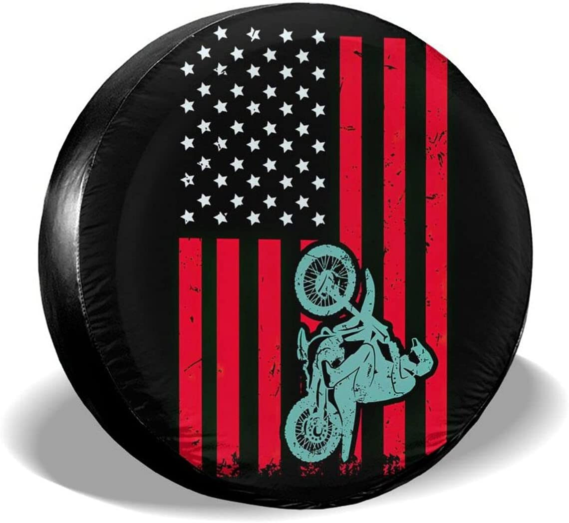 KXT Motocross Max 53% OFF American Flag Luxury goods Dirt Bike Dust-Pro Spare Covers Tire