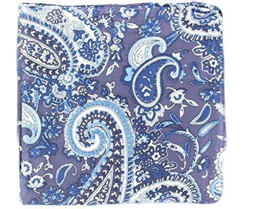 "M&F Western 33""x33"" Wild Rags Silk Paisley Scarf Bandana Blue One Size"