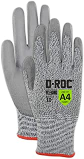 Magid Glove & Safety D-ROC GPD514 Blended Polyurethane Palm Coated Work Gloves - Cut Level A4, Grey (12 Pair)