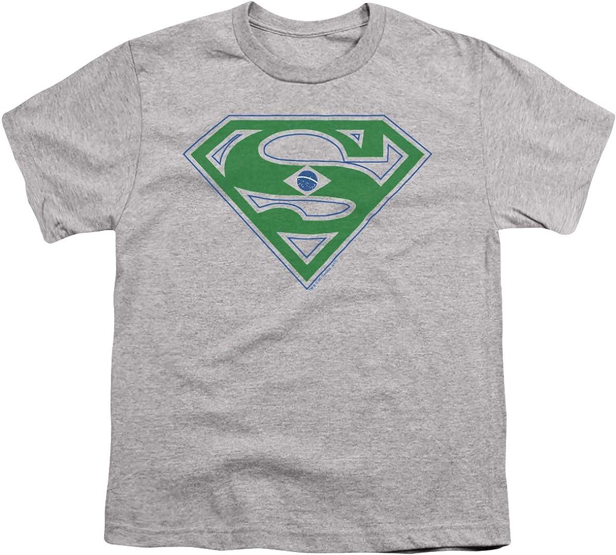 Superman Brazil Shield Unisex Youth T Shirt
