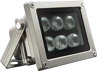 Univivi Infrared Illuminator, 850nm 6 LEDs 90 Degree Wide Angle IR Illuminator for Night Vision,Waterproof LED Infrared Light for IP Camera,CCTV Security Camera