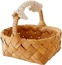 SCDZS Stylowy kosz na ślub kemping piknik kosz na zakupy przechowywanie słodyczy kosz pudełko prezentowe kosz do przechowy...