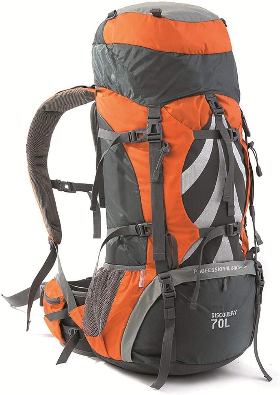 Leichter Rucksack Outdoor-Bergsportrucksack Outdoor-Bergsportrucksack Outdoor-Bergsportrucksack 70  5L wasserdichter Wanderrucksack mit großer Kapazität (Orange) (Farbe  A) B07PR9GF2F  Bekannt für seine schöne Qualität 0a50cb