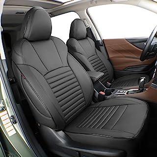 EKR Custom Fit Full Set Car Seat Covers for Select Subaru Outback 2015 2016 2017 2018 2019 - Leatherette (Black)