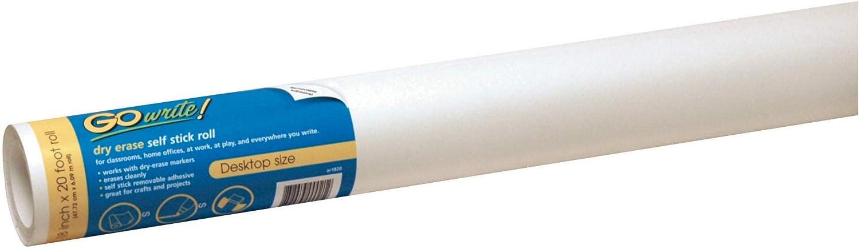 GoWrite PACAR1820 Self-Adhesive Dry Erase Roll x White 20 18