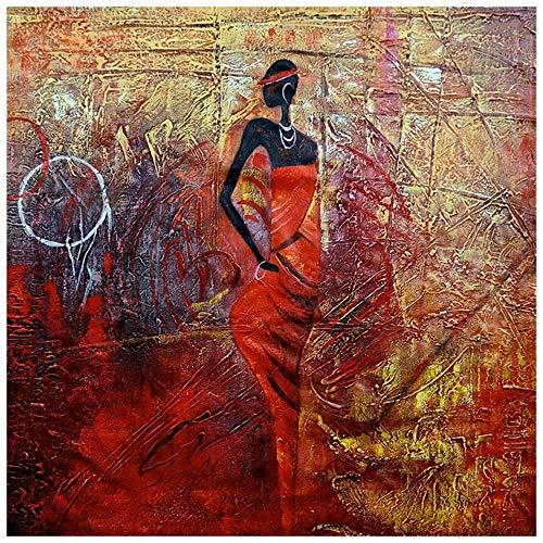 LegendArte Olio su Tela - Quadro su Tela Dipinto a Mano - Fiera Esibizione, cm. 50x60 - Quadro Moderno Soggiorno