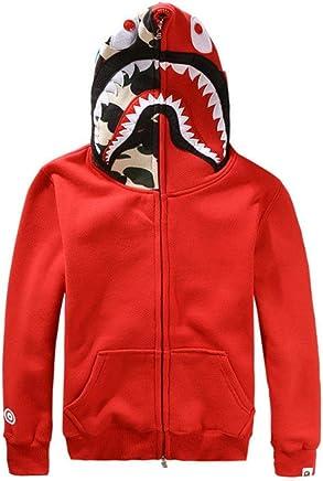 17cdb8a1b44 Griffith Nancy New Bathing Ape Bape Jacket Men Shark Head Full Zip Hoodie  Sweater Jacket