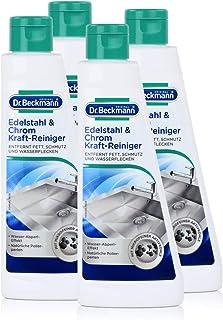 Dr. Beckmann Edelstahl & Chrom Kraft-Reiniger 250ml - Mit Aktivkohle 4er Pack